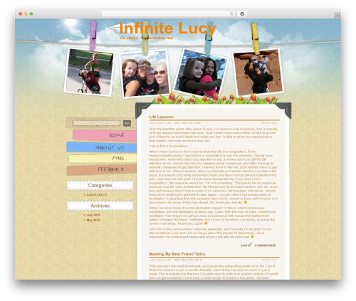 WordPress theme Children and Toys - infinitelucy.com