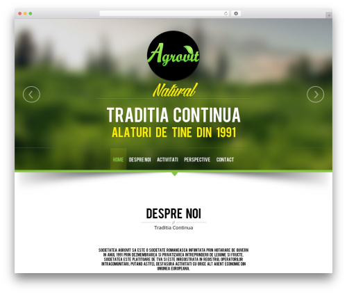 WordPress theme NatureWPThemes - agrovit.ro