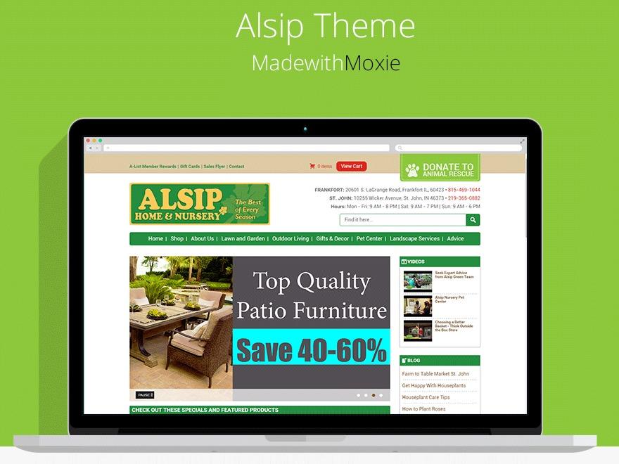 Wordpress Website Template Alsip Nursery Wp