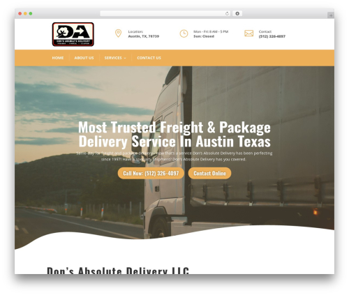 WordPress website template Divi - absolute-delivery.com