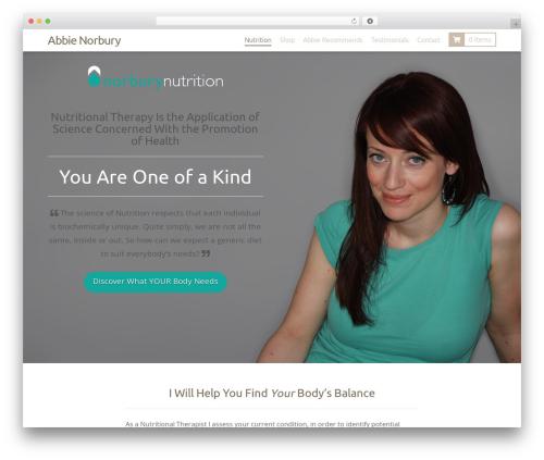 WordPress website template X - abbienorbury.com