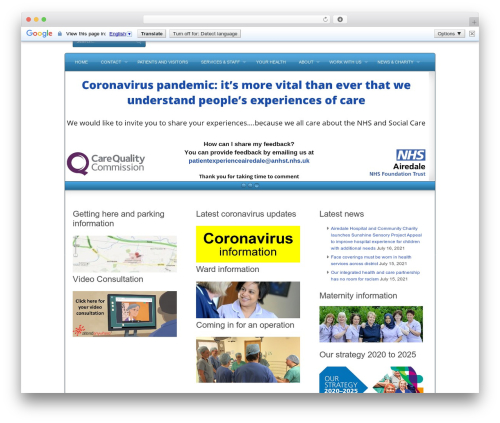 WP theme Complexity - airedale-trust.nhs.uk