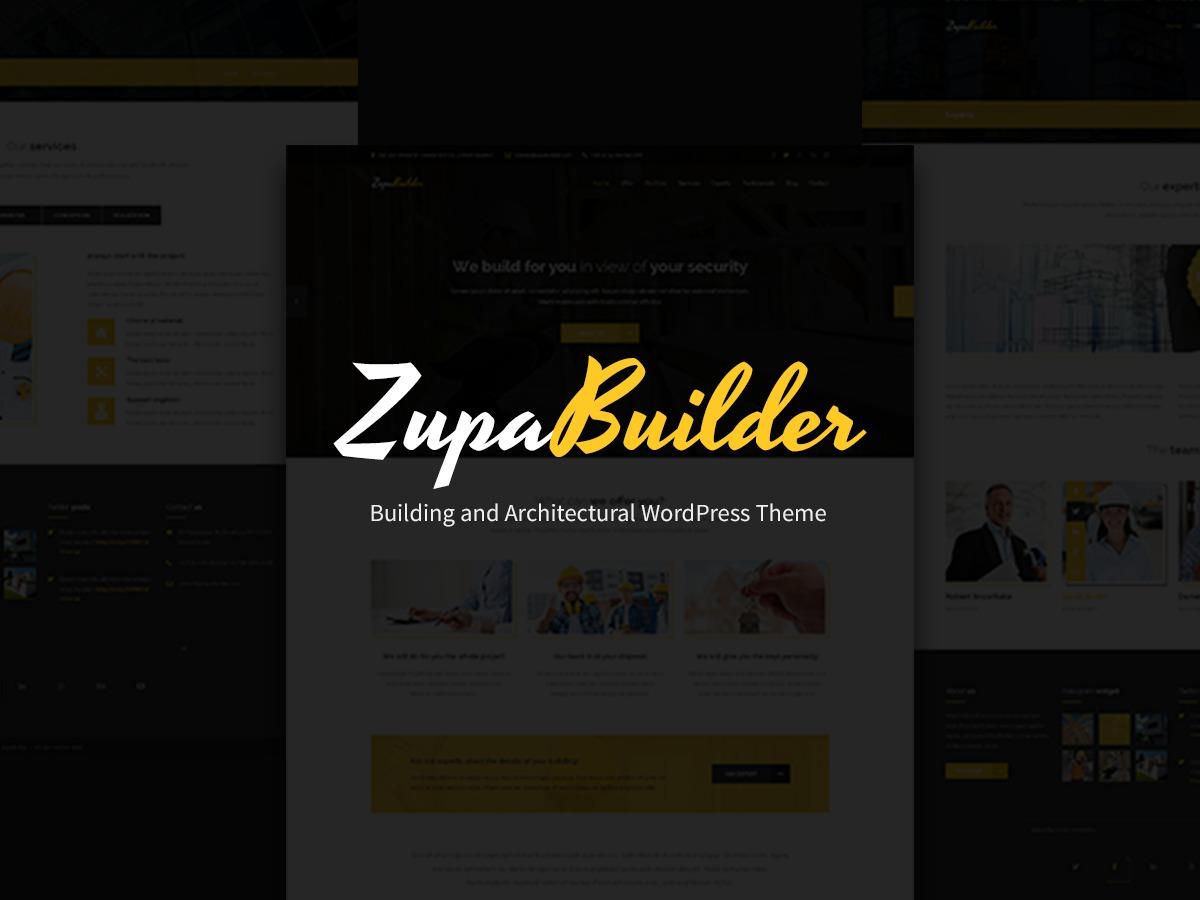 ZupaBuilder Child theme WordPress