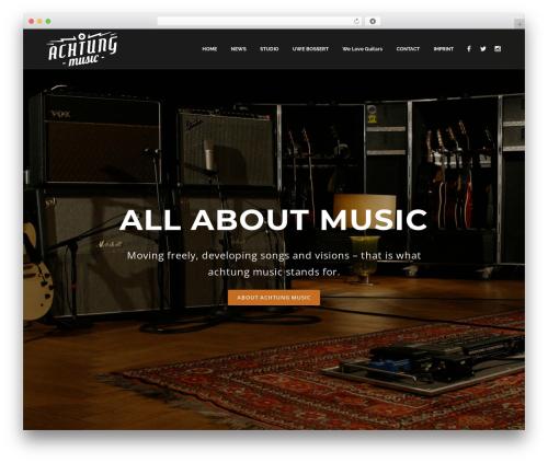 Decibel WordPress ecommerce theme - achtungmusic.com