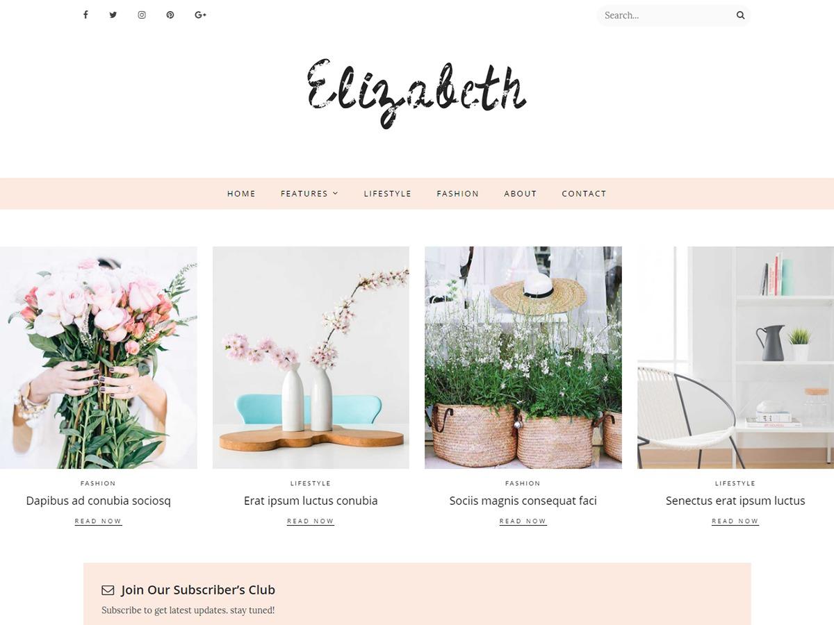 Elizabeth top WordPress theme