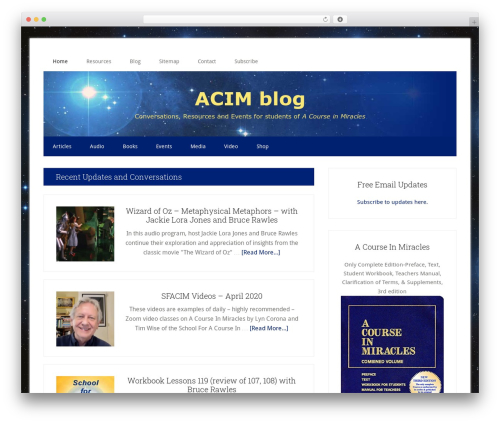 Genesis WordPress blog template - acimblog.com