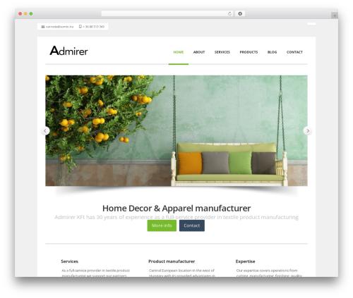 Nomos theme WordPress - admirertextiles.com
