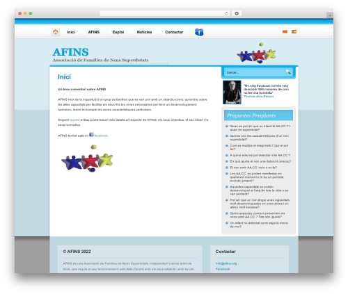 Nublu WordPress theme - afins.org