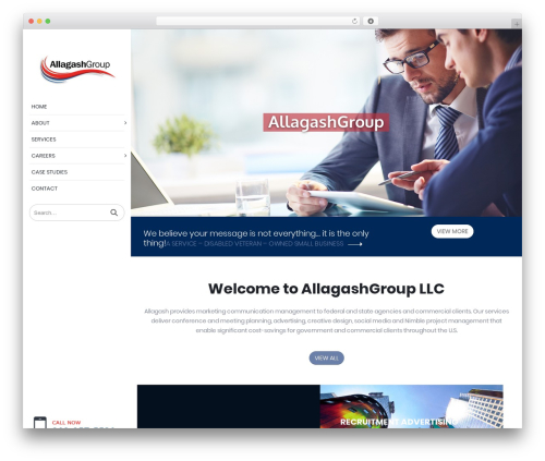 Porto WordPress theme - allagashgroup.com