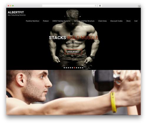 SKT Fitness Pro fitness WordPress theme - albertochoa.com