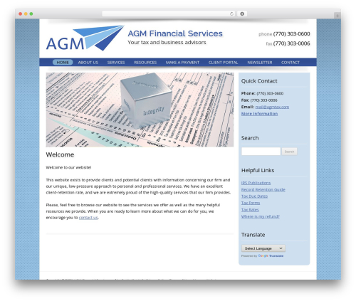 WordPress theme Customized - agmtax.com