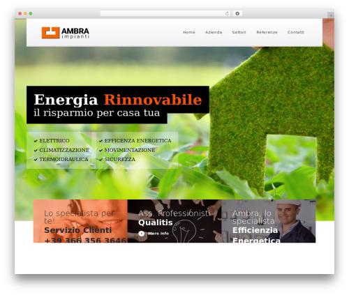 WordPress theme Optima - ambraimpianti.it