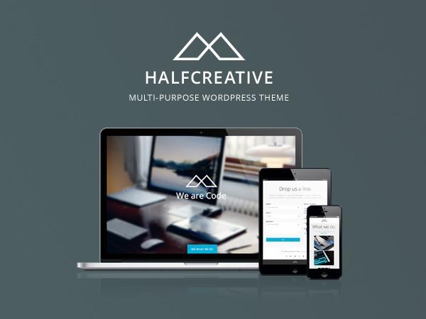 WordPress website template Halfcreative Child 01
