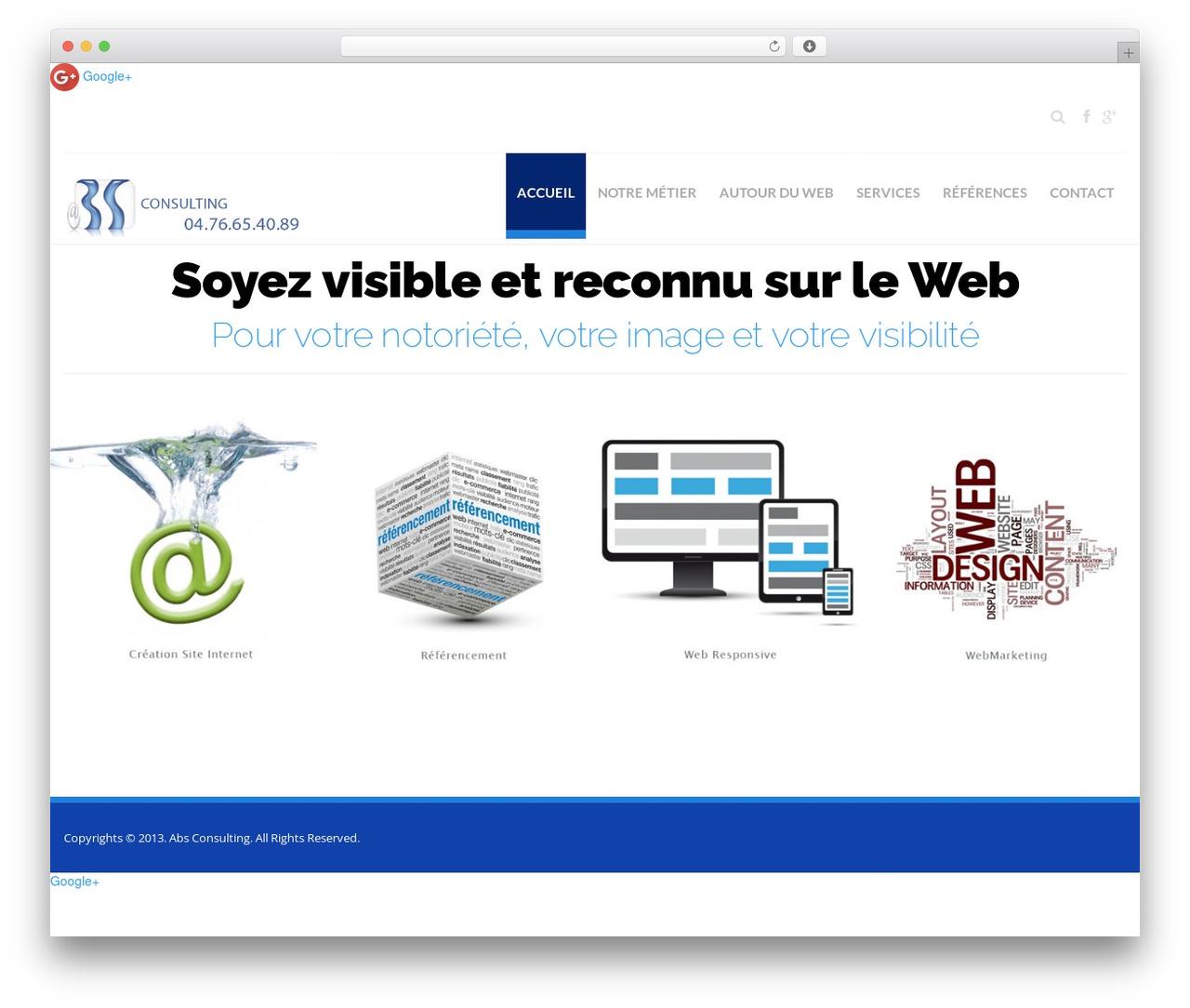WordPress website template Hercules - abs-consulting.fr