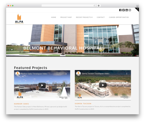 X WordPress theme design - alpaconstruction.com