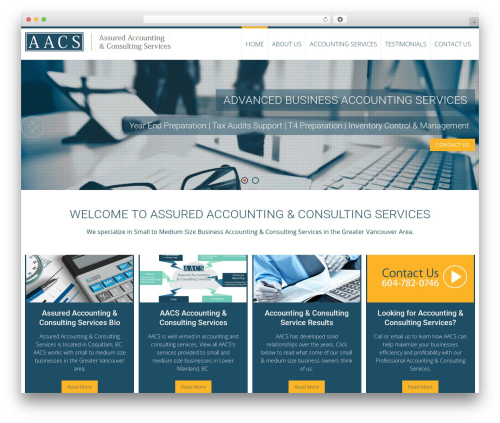 AccessPress Ray best free WordPress theme - accountingconsulting.ca