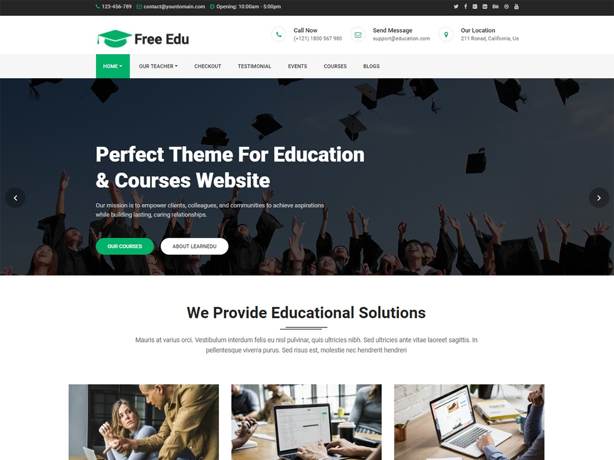Best WordPress template Free Education