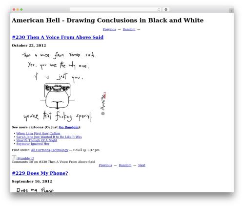 Best WordPress template Oasis - americanhell.com