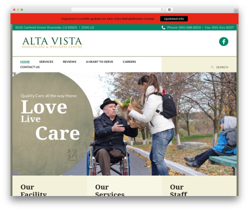 CountryVilla WordPress theme - altavistarehab.com