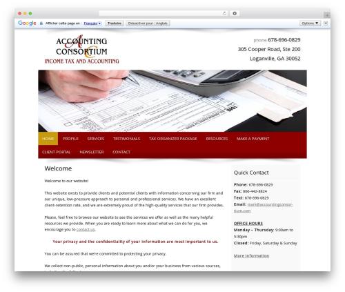 Customized WordPress template for business - accountingconsortium.com
