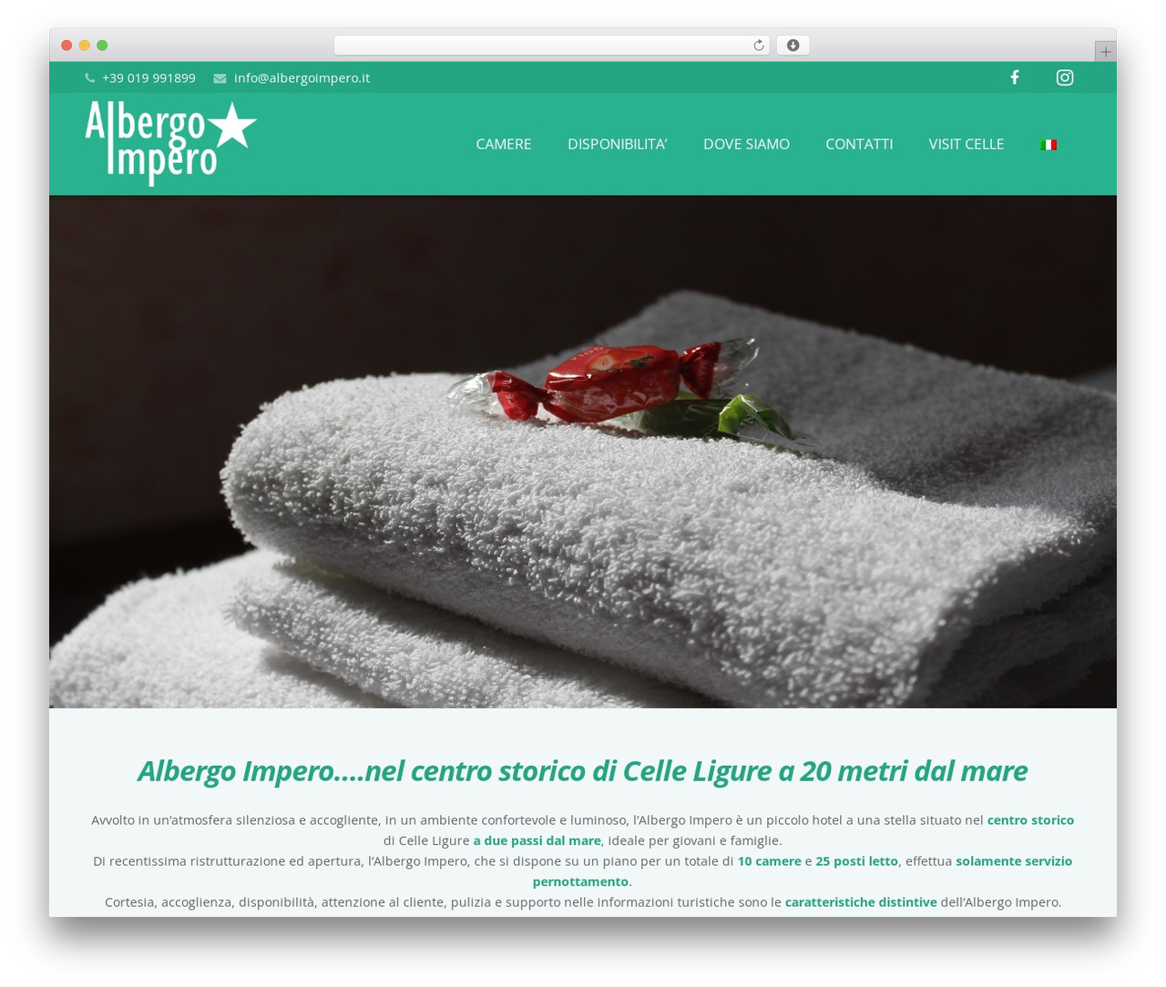 Impreza WordPress theme - albergoimpero.it/home