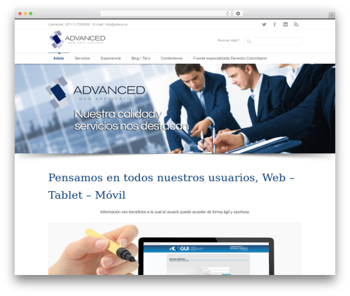 INOVADO WordPress theme - adwa.co