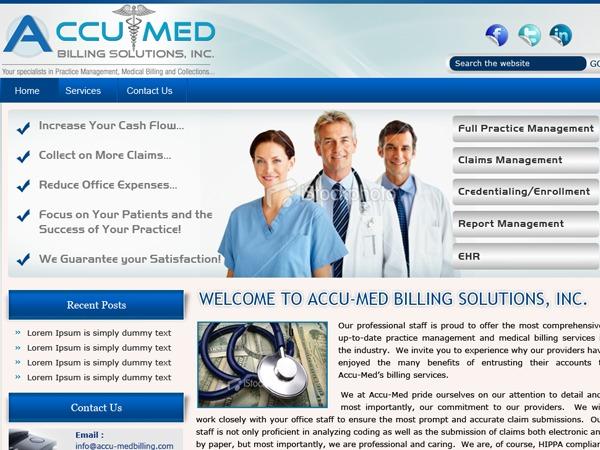 WordPress theme Accu-Med Billing Solutions, Inc.
