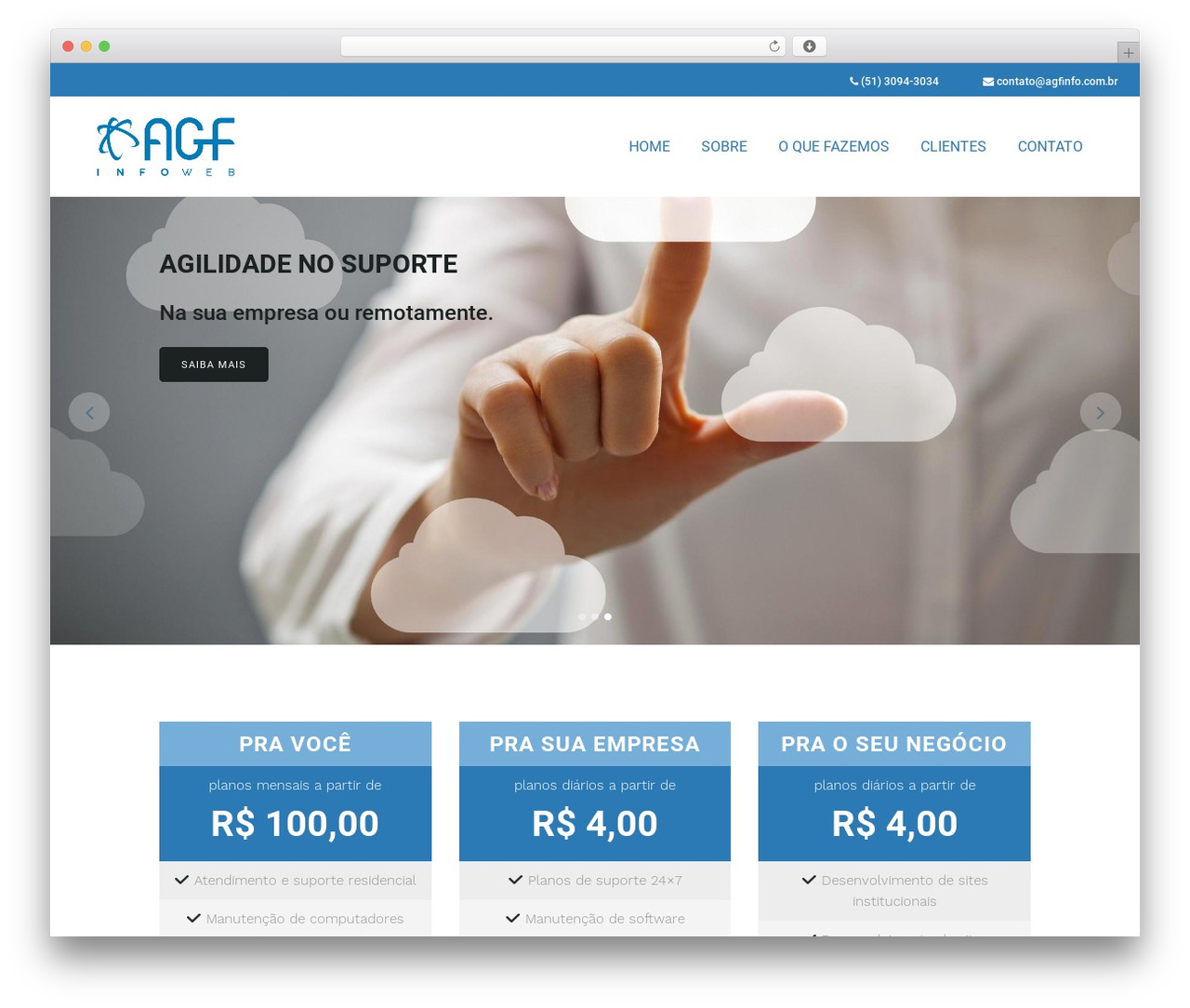 WordPress theme Bridge - agfinfo.com.br