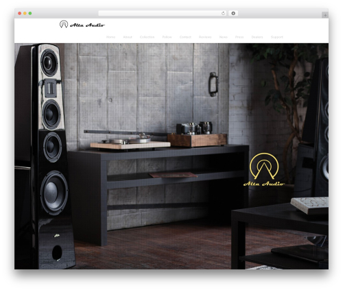 WordPress theme Encore - alta-audio.com