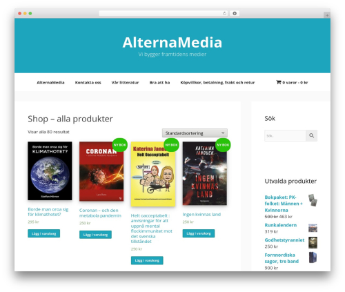 WordPress theme GeneratePress - alternamedia.se