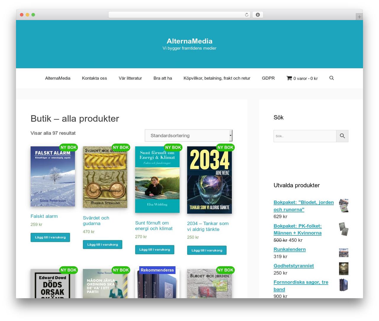 WordPress theme GeneratePress - alternamedia.se
