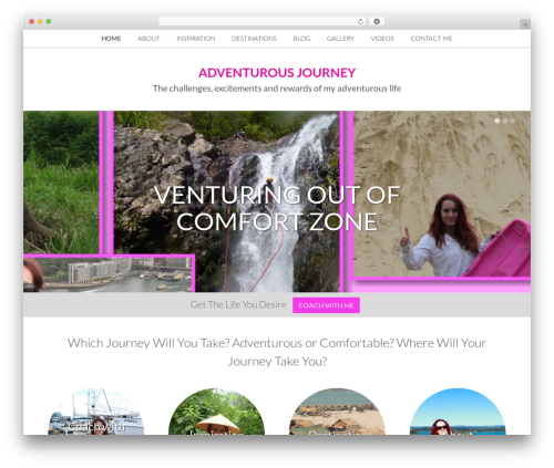 WordPress theme Nectar - adventurousjourney.com