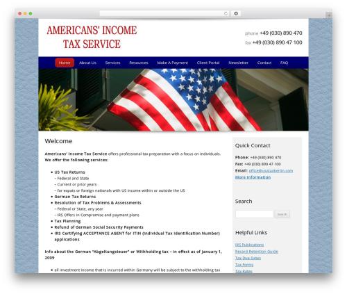 WordPress website template Customized - americansincometaxservice.com