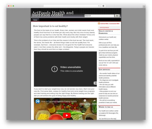alibi food WordPress theme - actfoods.com