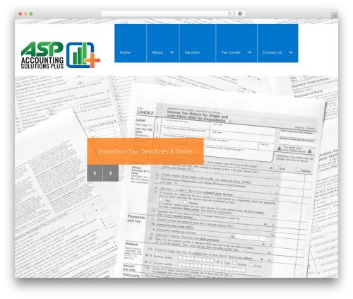 Arch WordPress theme design - accountingsolutionsplus.com