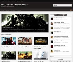 Arras WordPress magazine theme