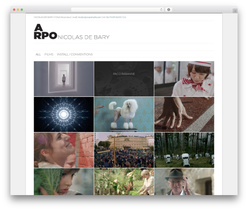 Best WordPress theme Gridz - arpostudio.com