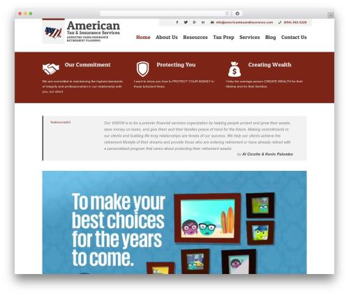 Lawyer company WordPress theme - americantaxandinsurance.com