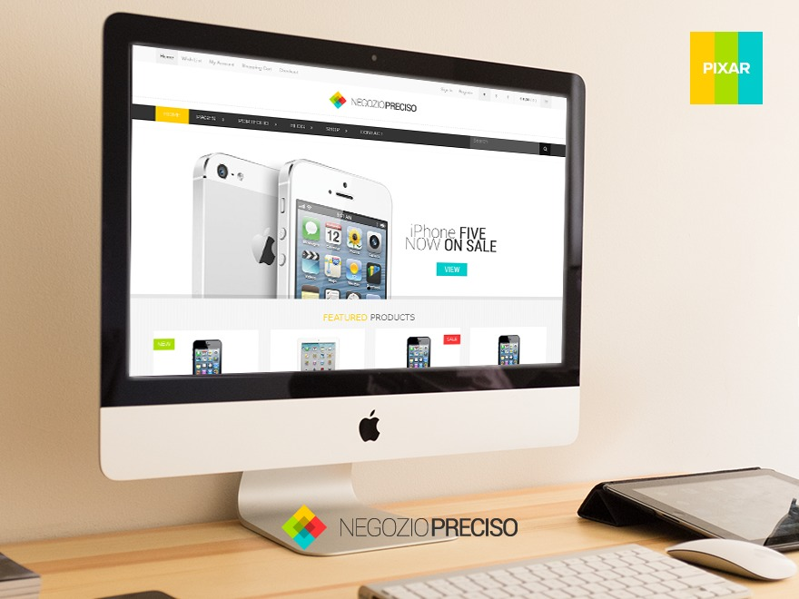 Preciso Shopfront (shared on wplocker.com) WordPress ecommerce template