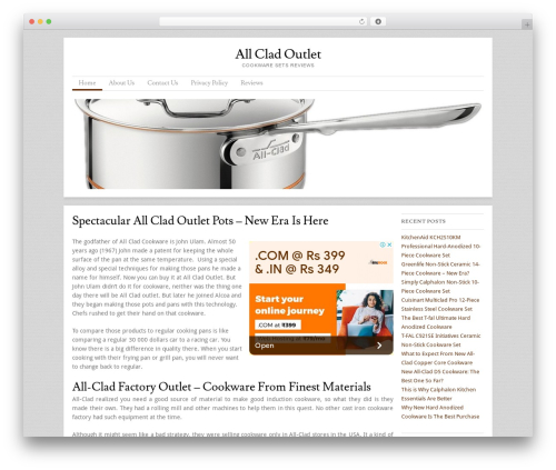 Skirmish WordPress theme - allcladoutlet.com