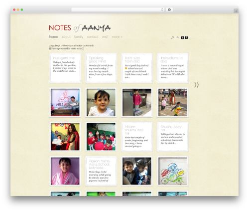 Template WordPress DailyNotes - aanyajain.com