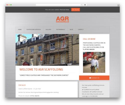 Theme WordPress Everest - agrscaffolding.co.uk