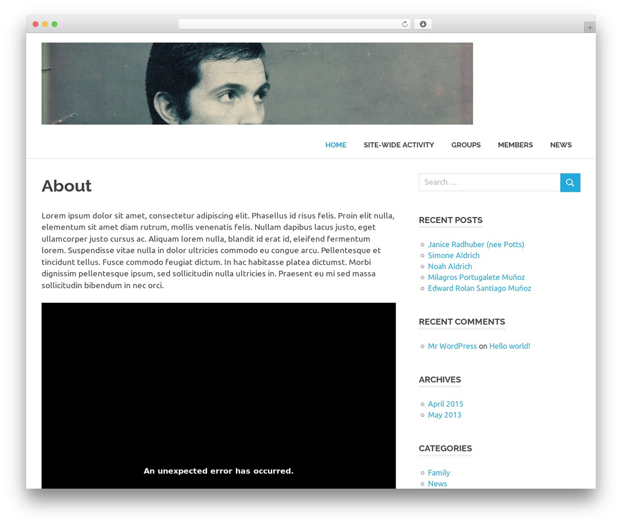Theme WordPress Poseidon - aldrich-family.co.uk