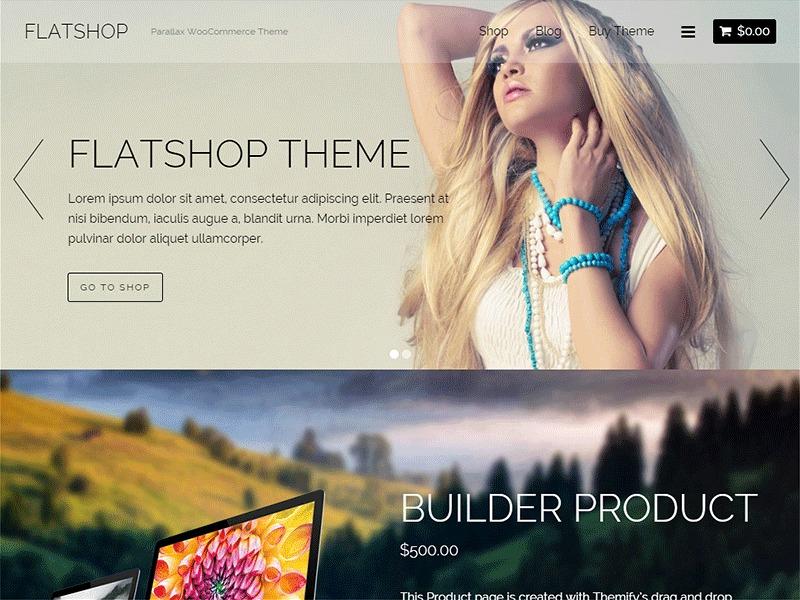 Themify Flatshop Child WordPress shopping theme