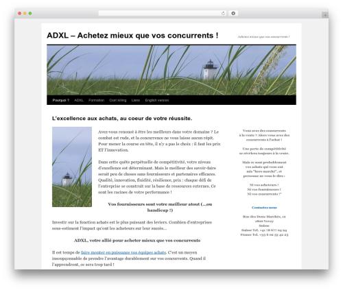 Twenty Ten WP template - adxl.fr