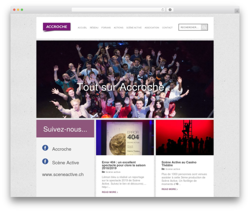 WordPress website template Wunder - accroche.ch