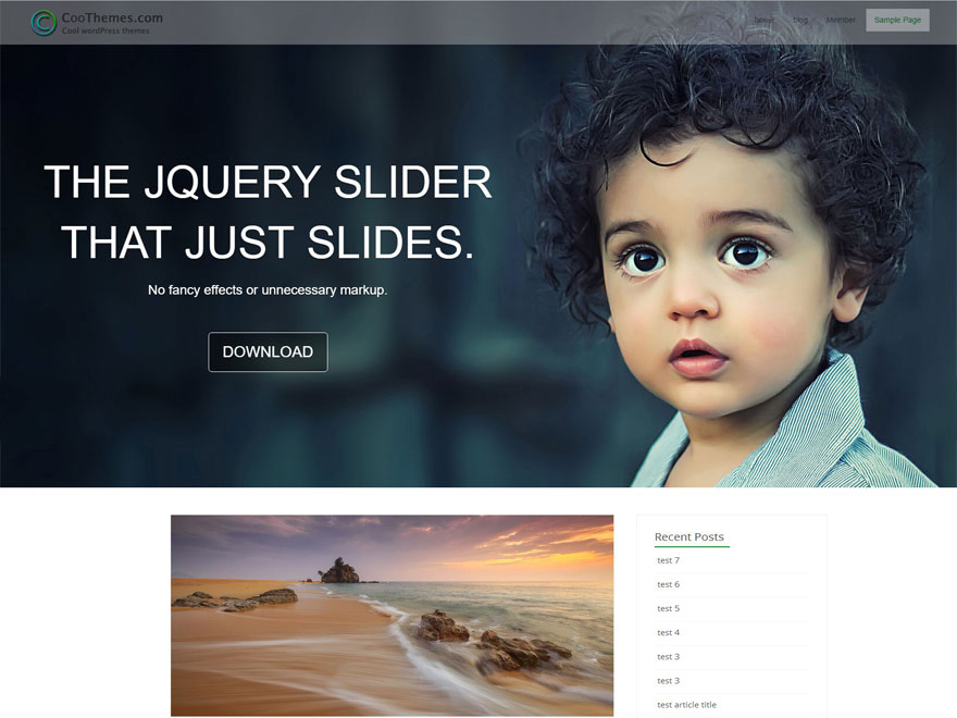 Acool business WordPress theme