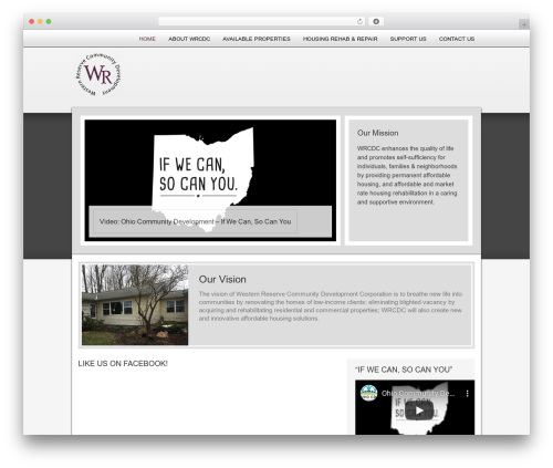 AgentPress Two WordPress page template - wrcdc.org