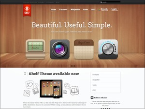 Best WordPress template Shelf