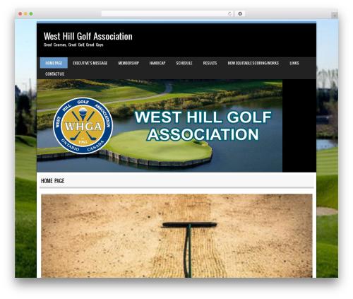Best WordPress template Sporty - whga.ca